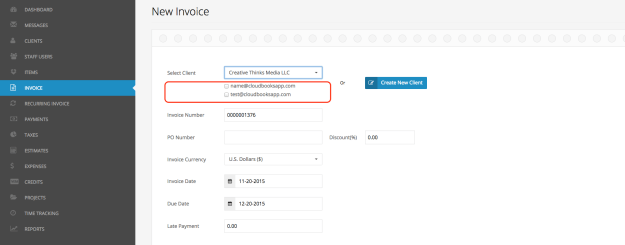 Add multiple contacts to invoice