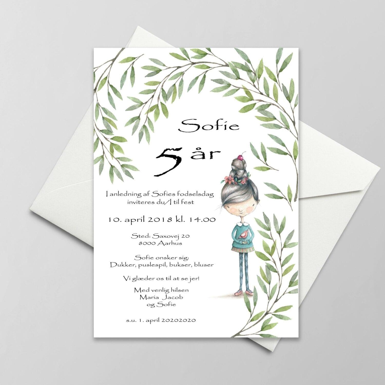 5 års fødselsdag invitation