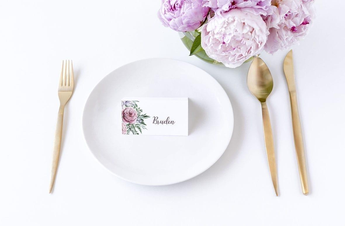 bordkort bryllup boheme dreams