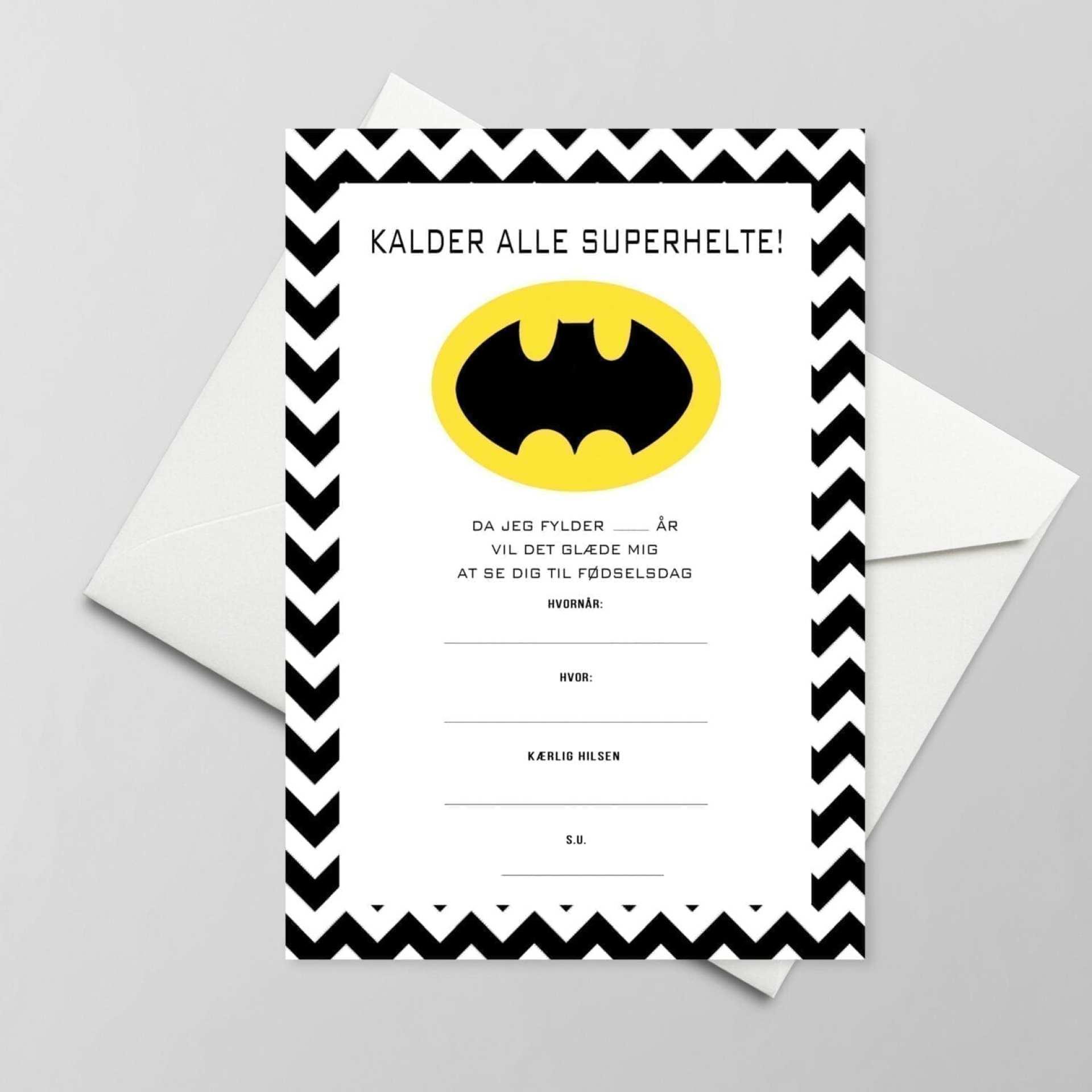 Superhelte invitation