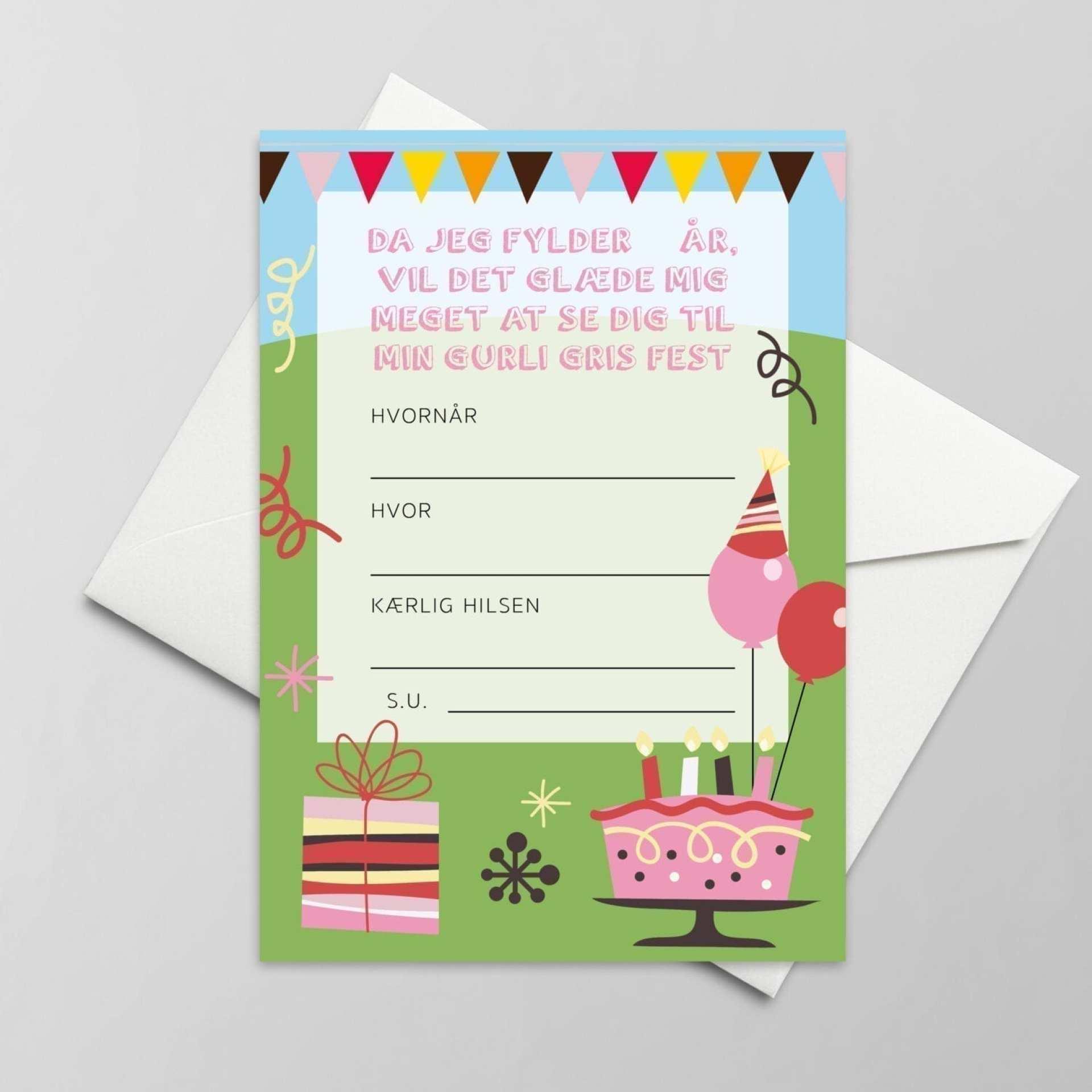 sød invitation til børnefødselsdag