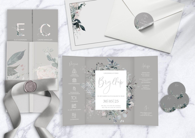 magical greys, invitation til bryllup