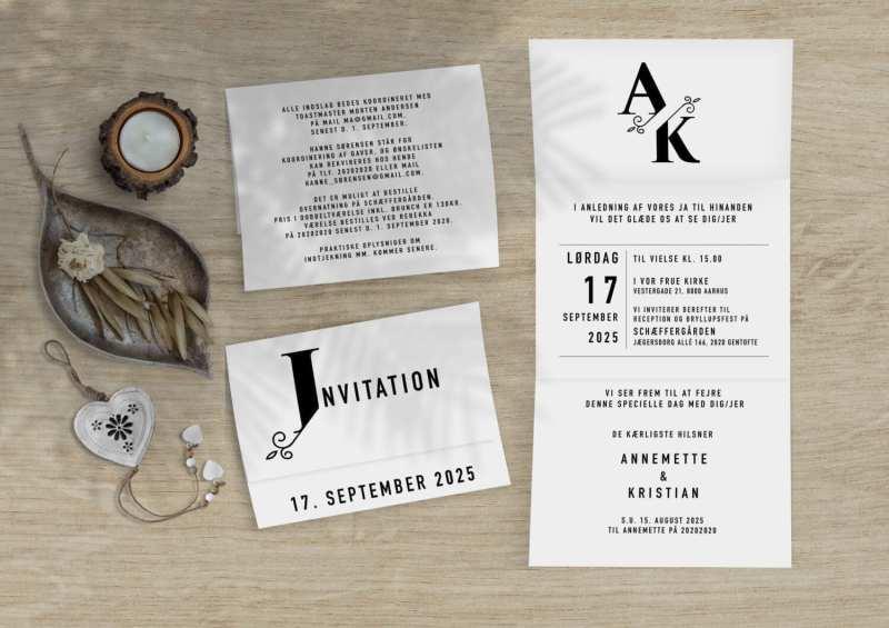split monogram rullefals invitation