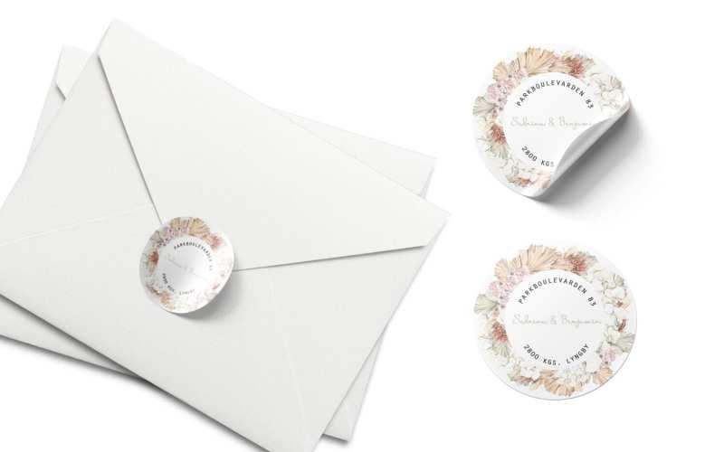 lukning af kuvert med afsenderstickers