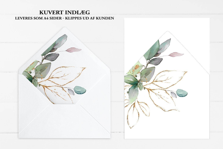 kuvertindlæg gold leaf