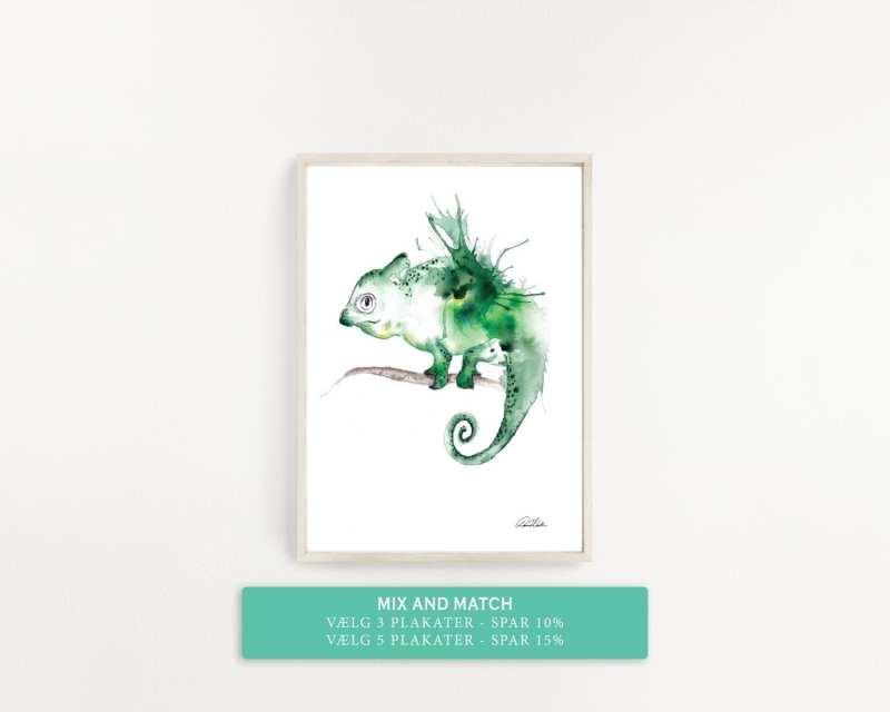 plakat med grøn