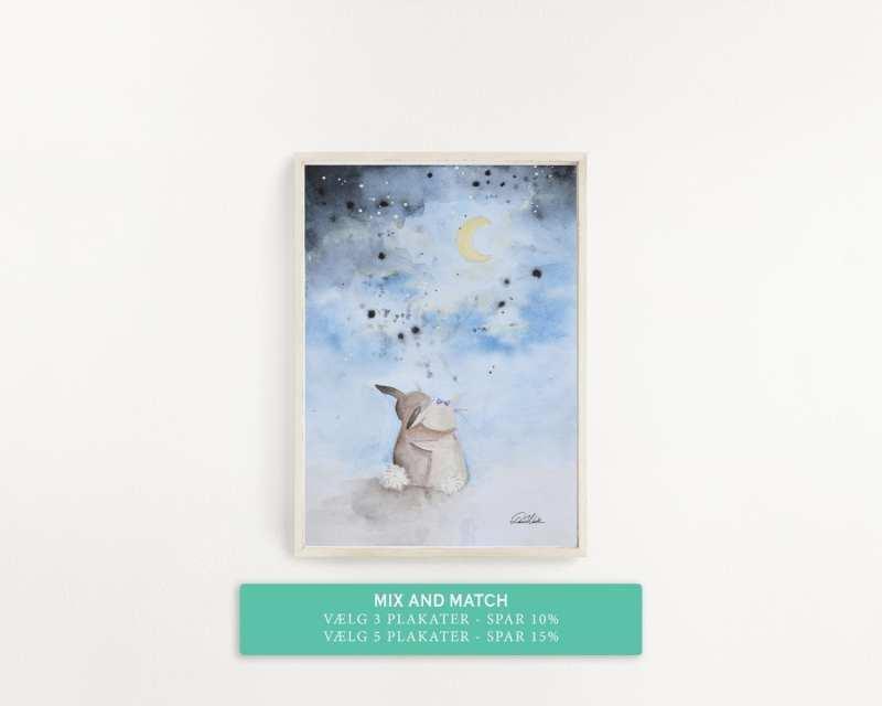 plakat med krammende kaniner