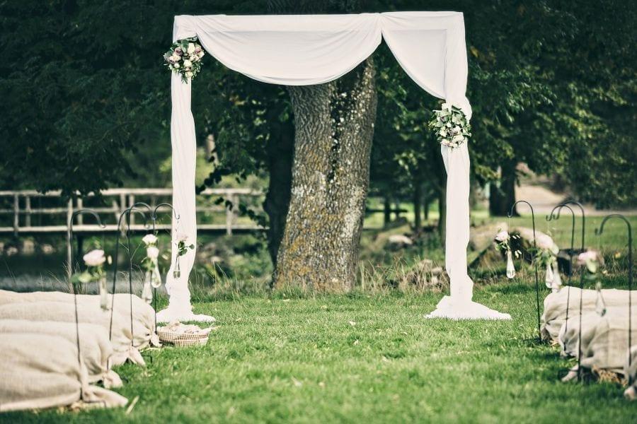 romantisk bryllupsfest