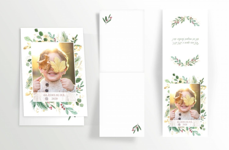 personliggjort julekort med billede og tekst
