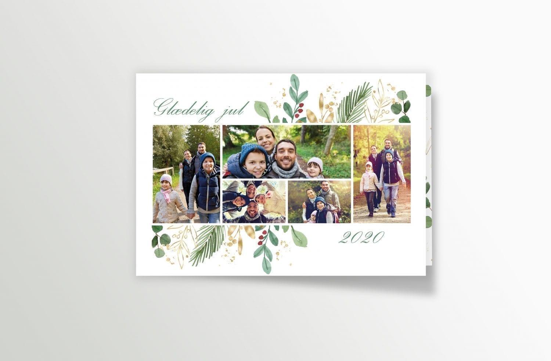 julekort med egne billeder smukt design