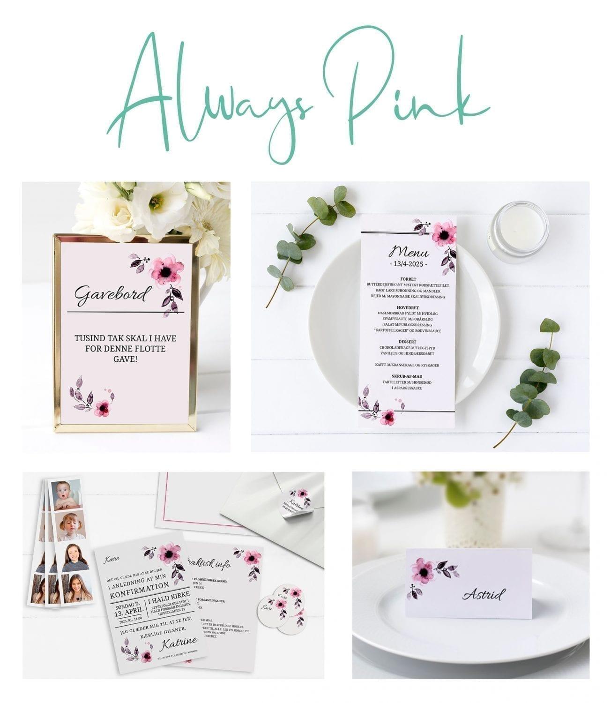 konfirmation pige pink blomster