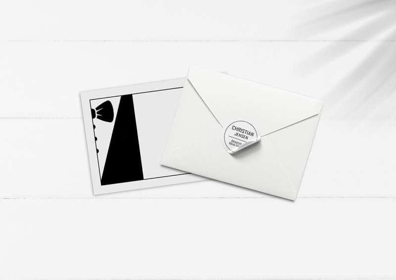 kuvert pakke med stickers beat box