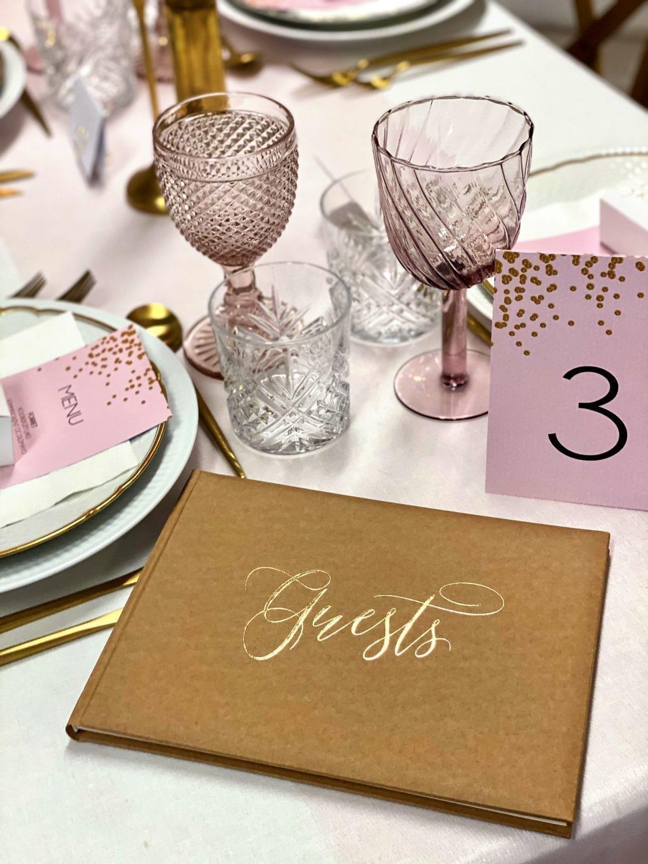 gæstebog bordnummer menukort