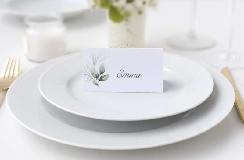 Bordkort konfirmation grøn gren