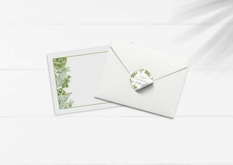 kuvert pakke med stickers go green