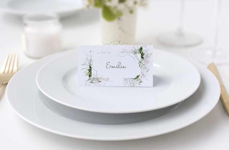 Bordkort konfirmation natur grønt blade