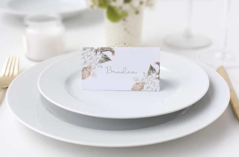 natur bryllup botanical rhapsody bordkort