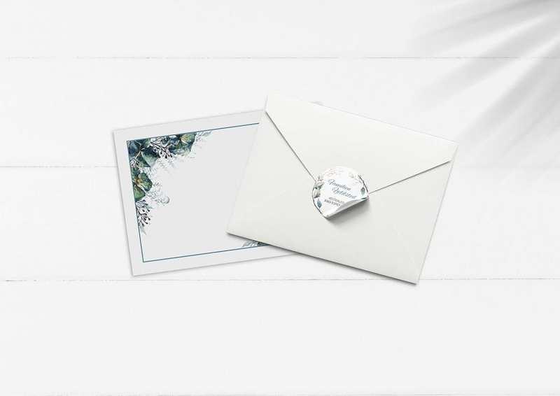 Kuvert og sticker hydran love