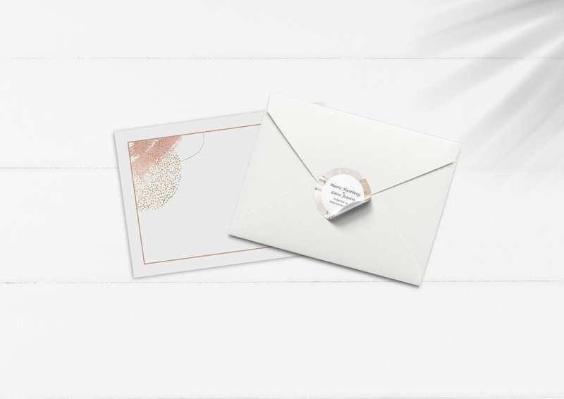 kuvert med tryk