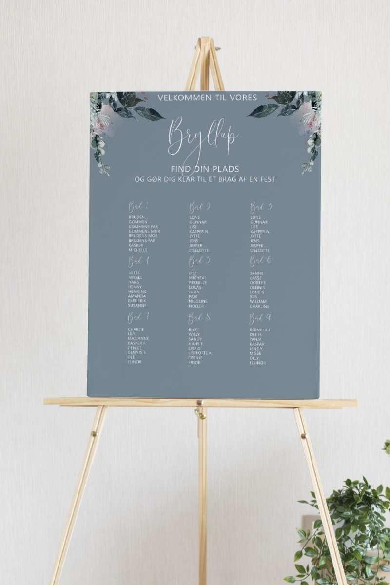 Blue Beyond, bordplan, bryllup