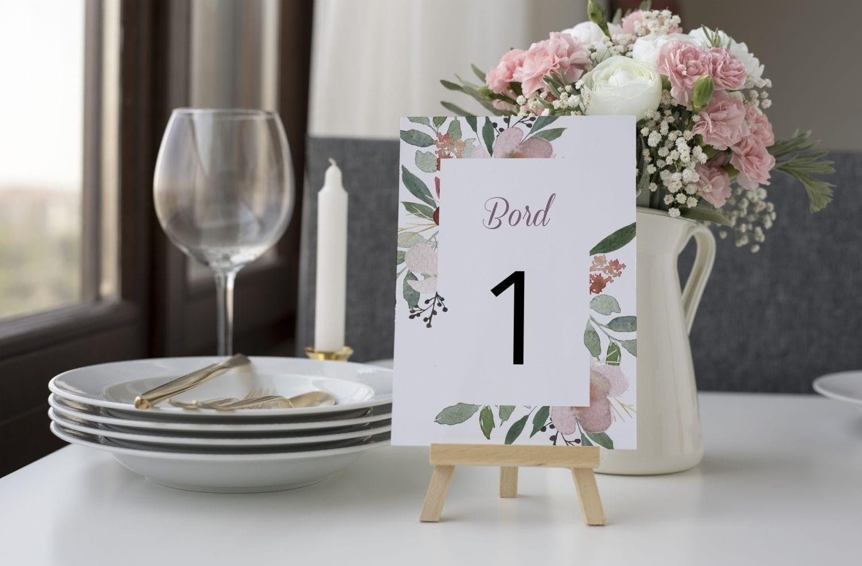 Blush Blossom, bordnummer, bryllup