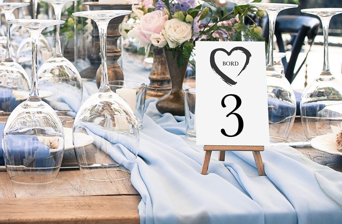 bordnummer, grunge heart, fest, pynt opdækning, bordopdækning