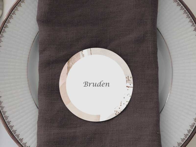 Modern Graphics, runde bordkort, bryllup