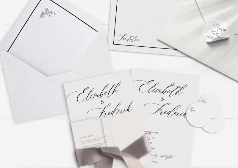 Simple Kali, invitation, bryllup