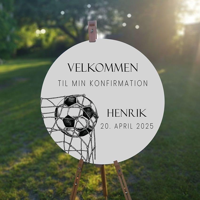 Soccer Goal, velkomstskilt, konfirmation