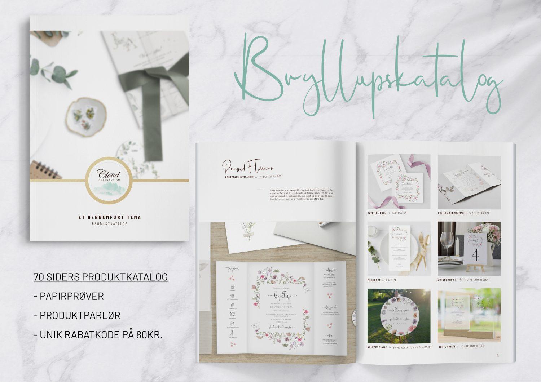 Bryllupskatalog 70 sider med unikke designs