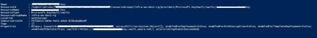 Figura 5 - Powershell output post abilitazione soft-delete