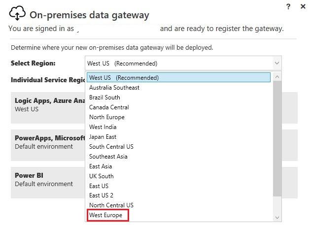 Figura 8 - On-Premises Data Gateway installazione