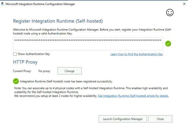 Figura 8- Registrazione VM self-hosted IR