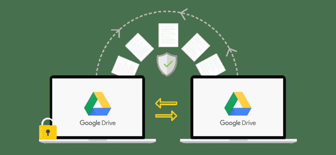 migrate between two google drive accounts