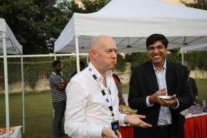 Phil enjoying the food at India Dreamin 2018