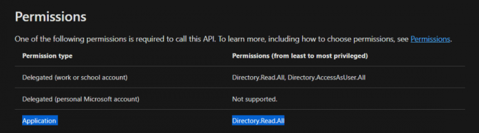 You need the Directory.ReadAll permission to use the getDirectoryObject function.