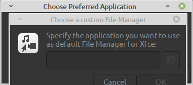 Specifying the default file manager to use in Mint 20