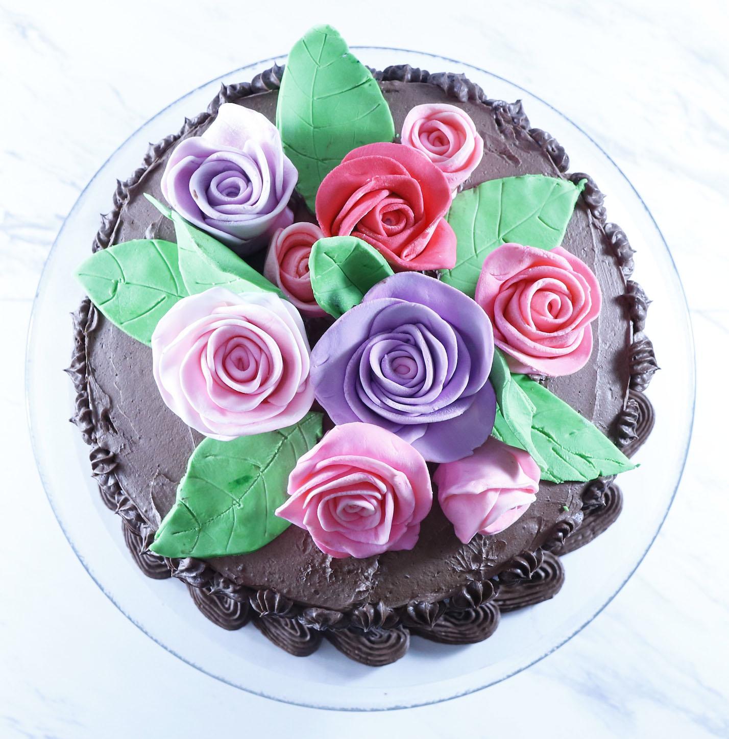 Vegan Chocolate Cake Clouds for Buttercream