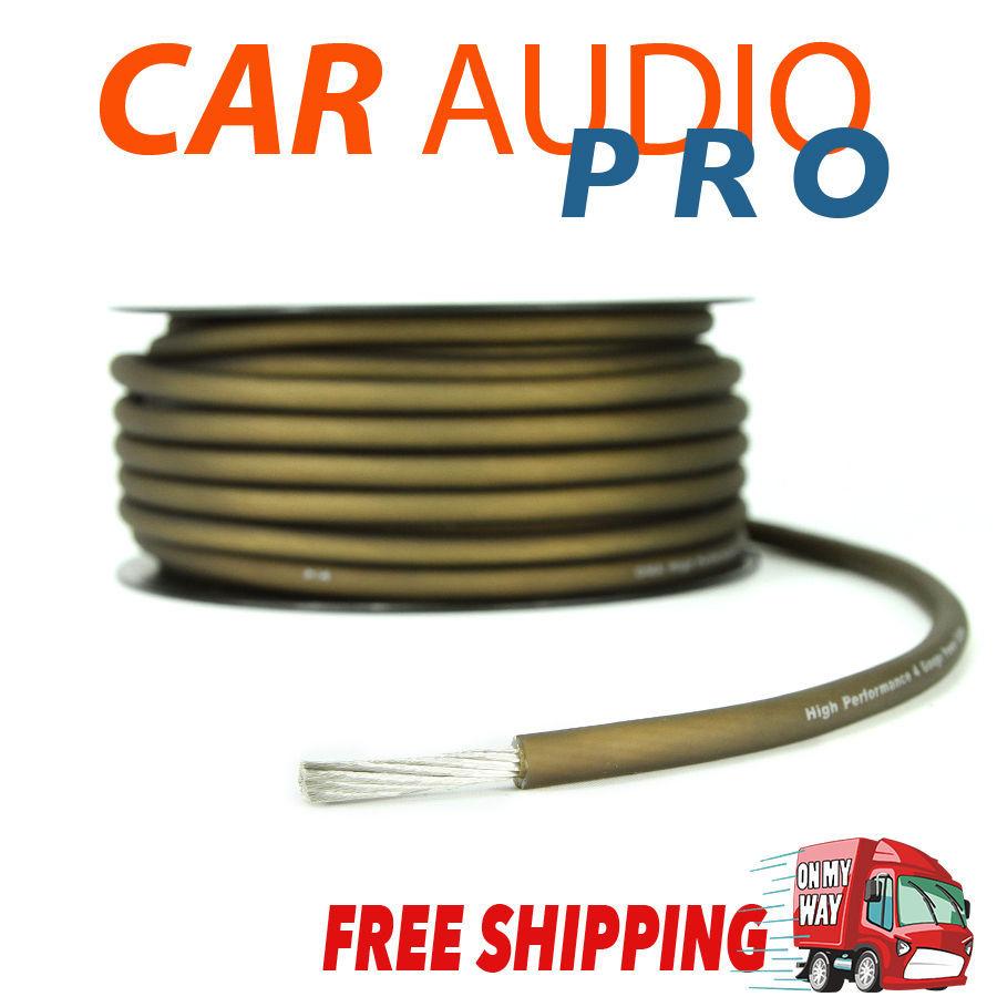 hight resolution of 4 gauge awg brown car subwoofer amp