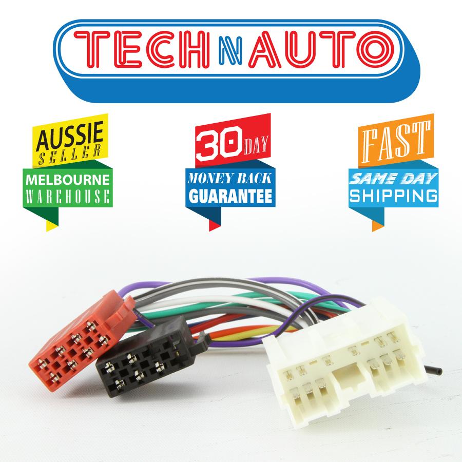 medium resolution of mitsubishi iso wiring harness radio plug lead wire loom connector adaptor