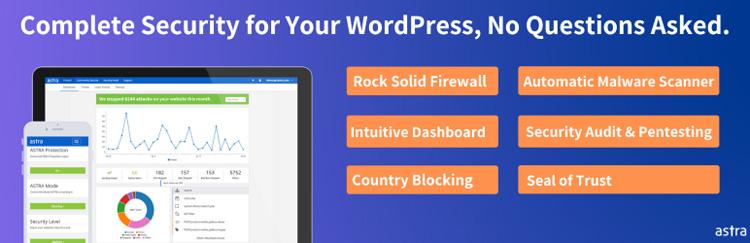 astra web security wordpress plugin