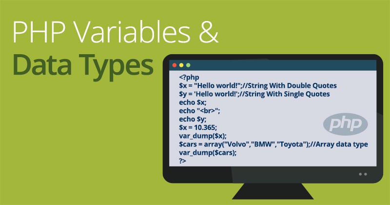 Risultati immagini per variable types in php