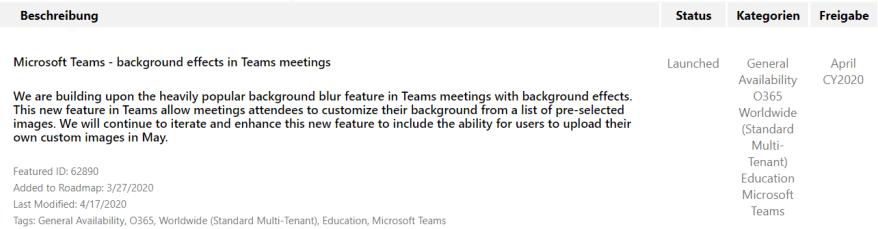 Hintergrundbilder in Microsoft Teams