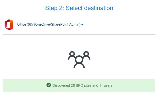 Homelaufwerke zu OneDrive for Business migrieren - Ziel erfolgreich verbunden