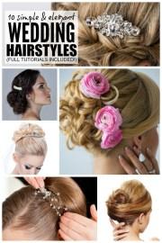 simple & elegant wedding hairstyles