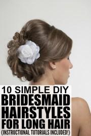 bridesmaid hairstyles long