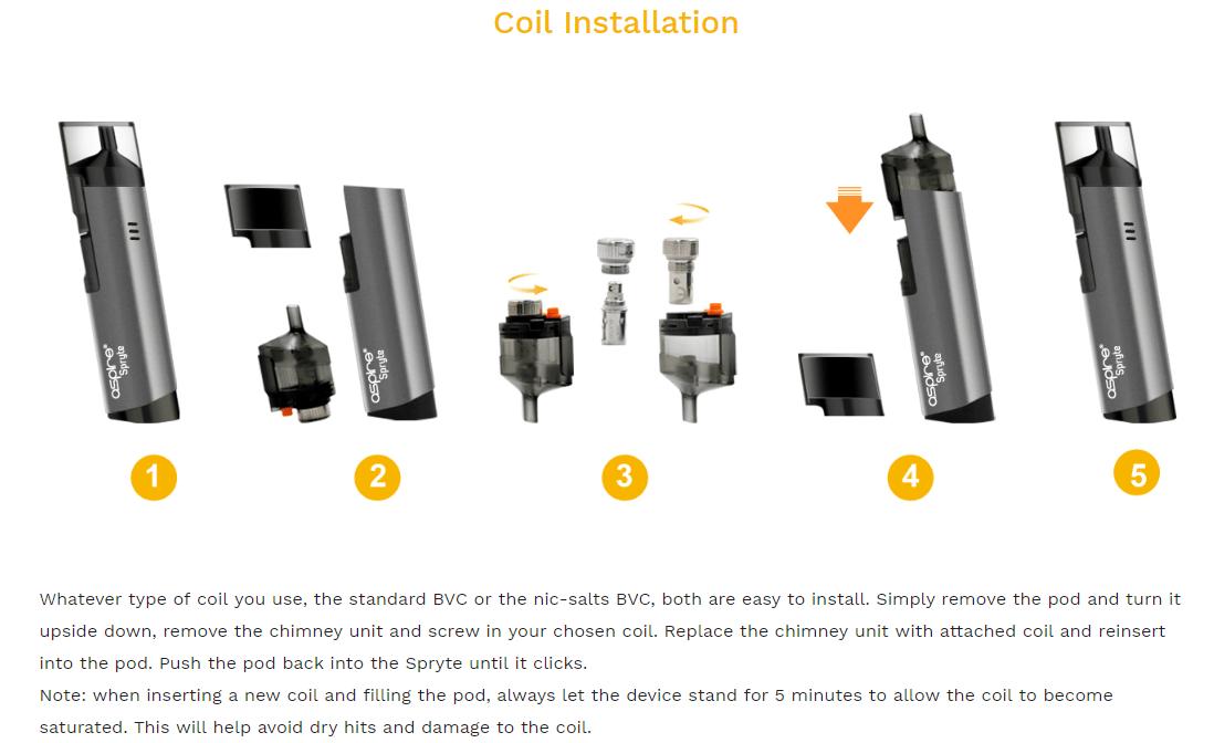 Aspire Spryte 3.5ml Replacement Pod Cartridge for Spryte