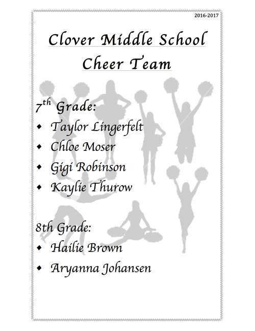 Cheerleading / CMS Cheer Team