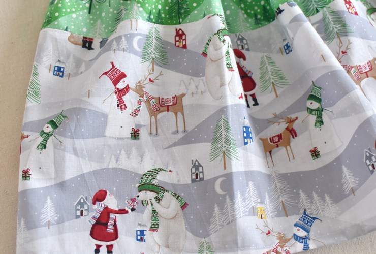 Christmas in July Skirt :: Blog Hop & Giveaway