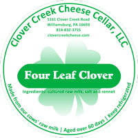 our new mature cheddar label: Four Leaf Clover